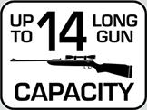Capacity: 14 Long Gun