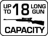 Capacity: 18 Long Gun