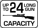 Capacity: 24 Long Gun