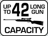 Capacity: 42 Long Gun