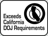 Exceeds California DOJ Requirements